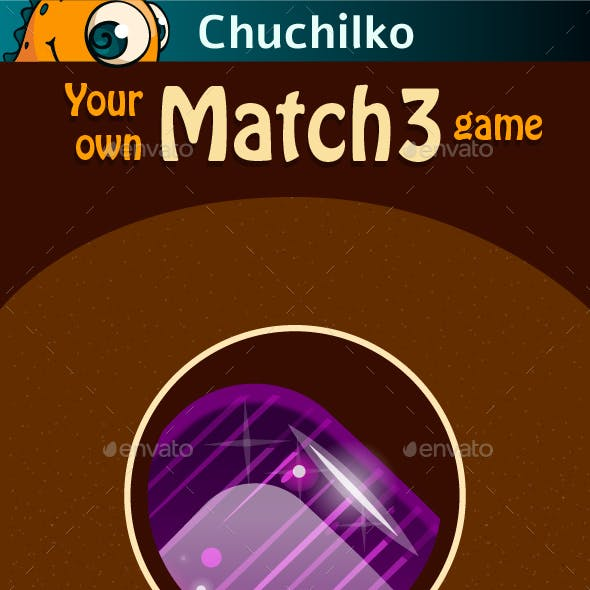 Graphic Assets for Match 3 Game