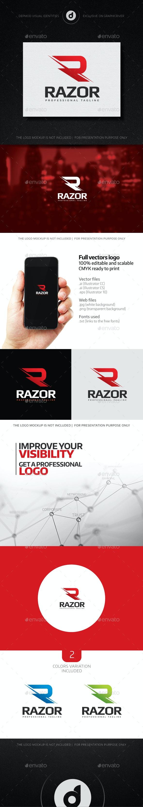 Razor Logo - Letters Logo Templates