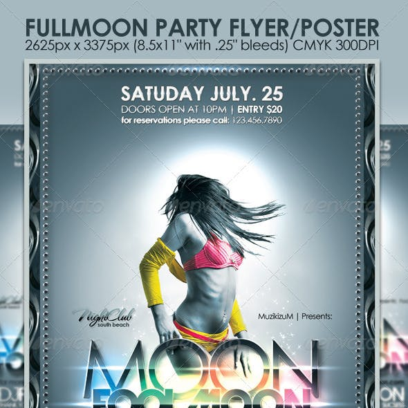 Fullmoon Party Flyer/Poster