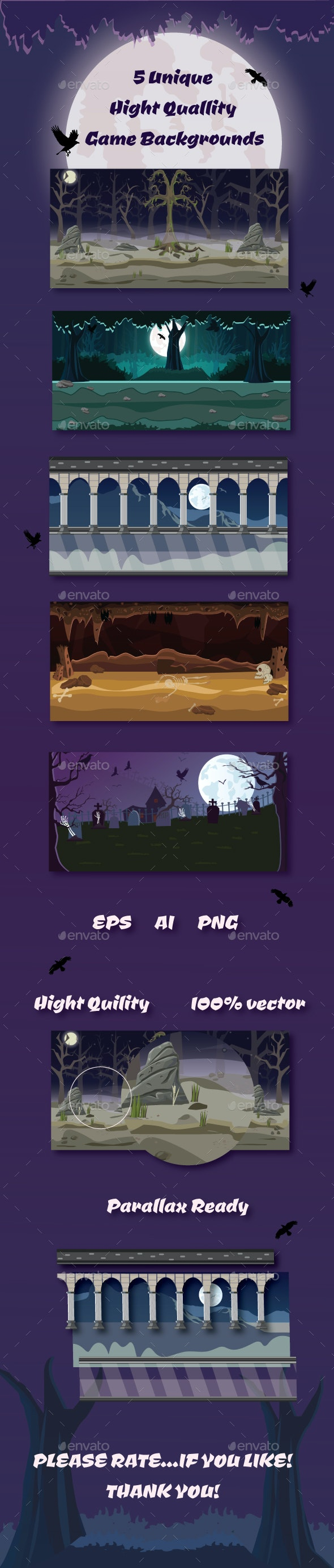 Horror Game Background Pack