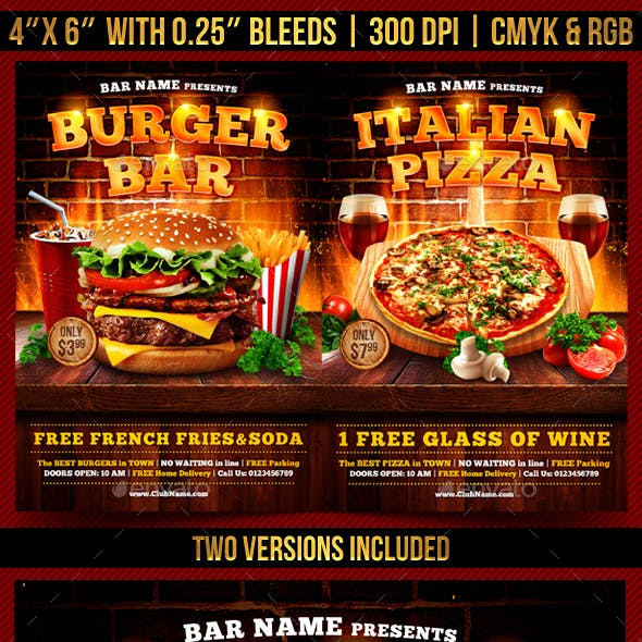Burger and Pizza Flyer Template