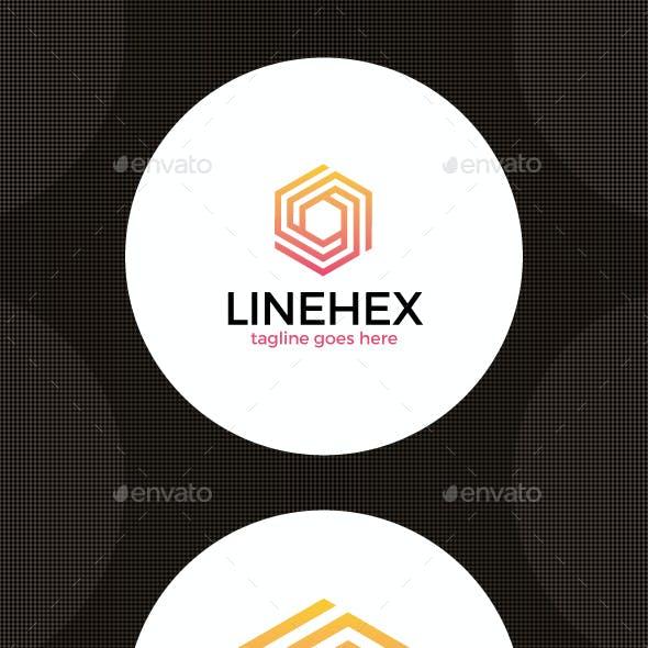 Hexagon Line Cube Logo