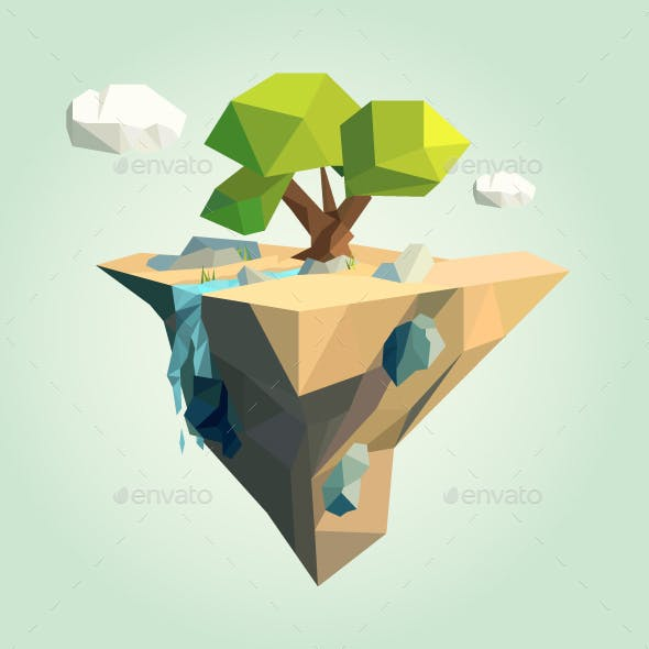 Low Poly Island for your Design