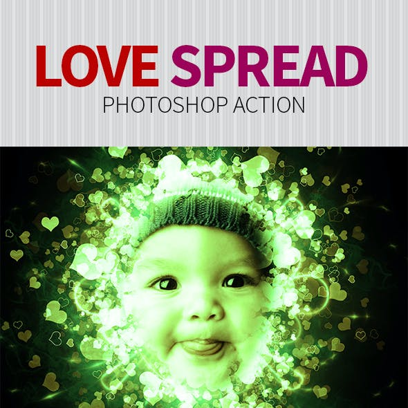 Spread Love Photoshop Action