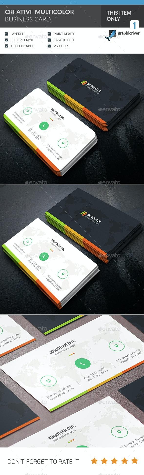 Creative Multicolor Business Card - Creative Business Cards