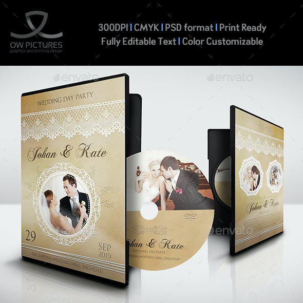 Wedding DVD Cover and DVD Label Template Vol.6