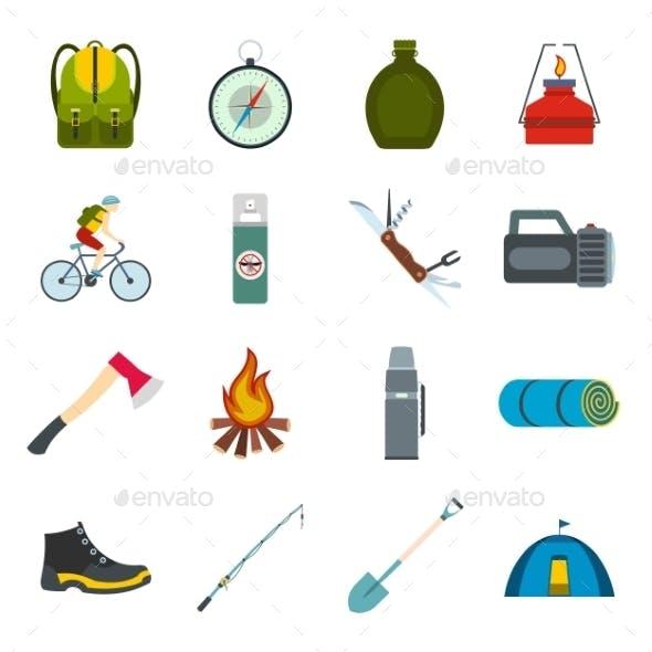 Camping Flat Icons