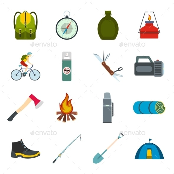 Camping Flat Icons - Miscellaneous Icons