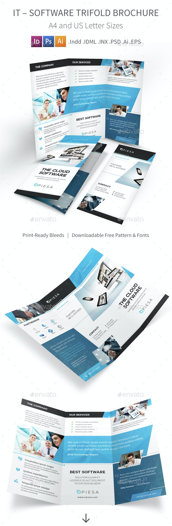 IT – Software Trifold Brochure 5 - Corporate Brochures