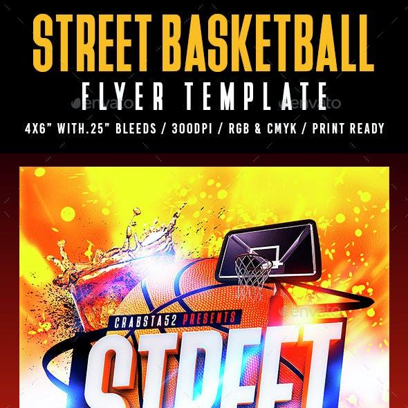 Street Basketball Flyer Template