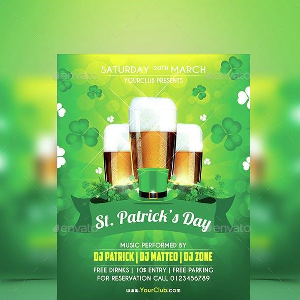 St.Patrick Party Flyer