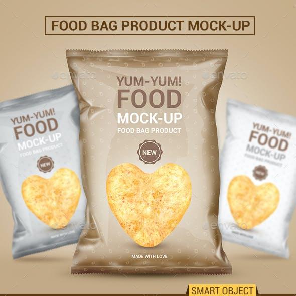 Food Bag Product Mock-Ups
