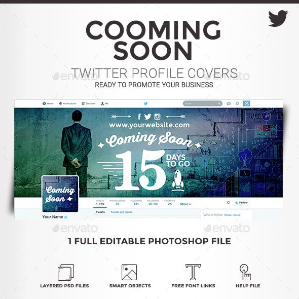 Twitter Profile Covers - Cooming Soon