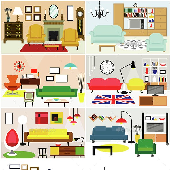 Living Rooms with Furniture