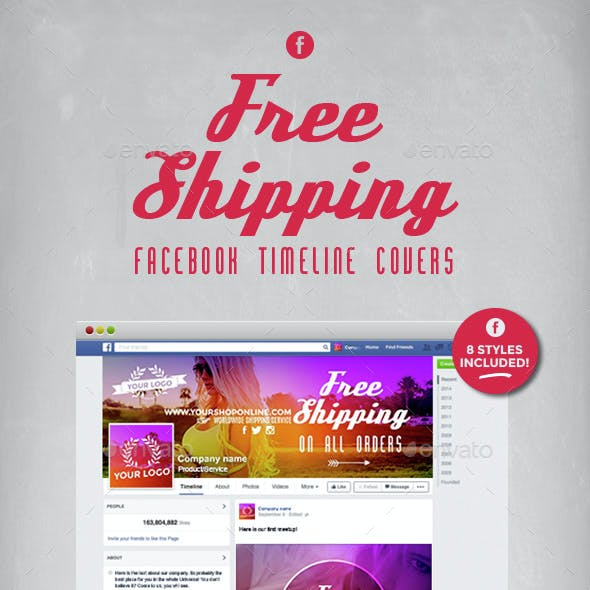 Facebook Timeline Covers - Free Shipping