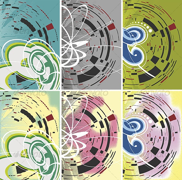 Abstract Backgrounds Set - Backgrounds Decorative