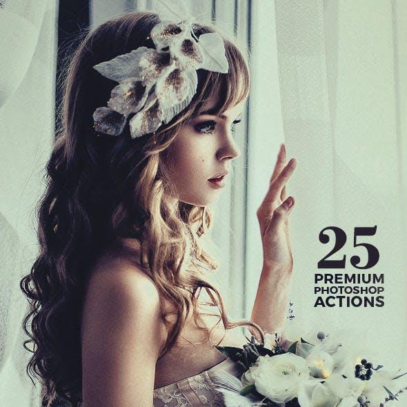 25 Premium Photoshop Actions Set