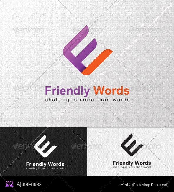 Friendly Words Logo Template