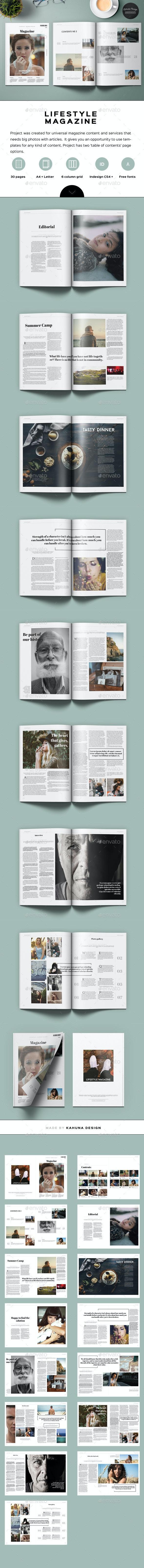 Lifestyle Universal Magazine - Magazines Print Templates