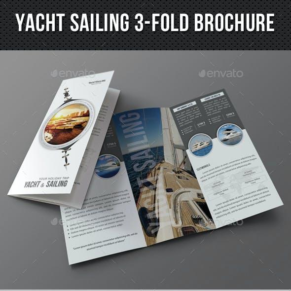 Yacht Boat Sailing 3-Fold Brochure