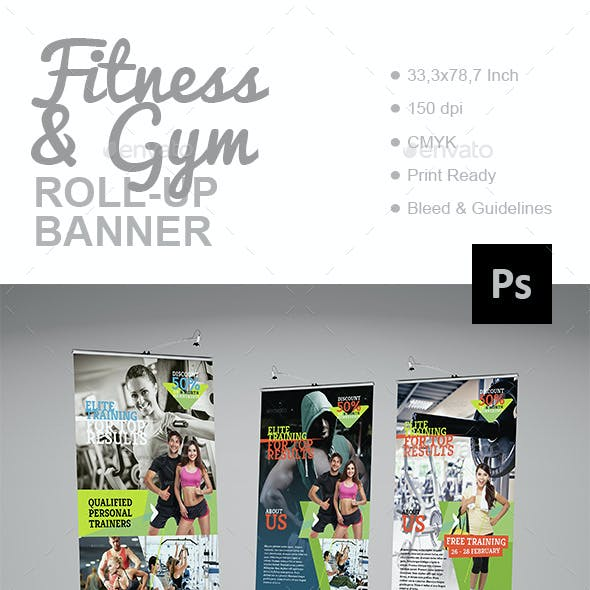 Fitness & Gym Roll-Up Banner