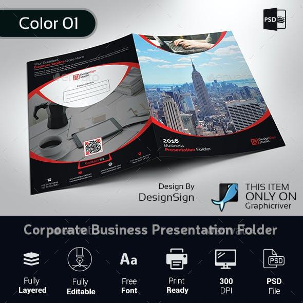 Corporate Business Presentation Folder