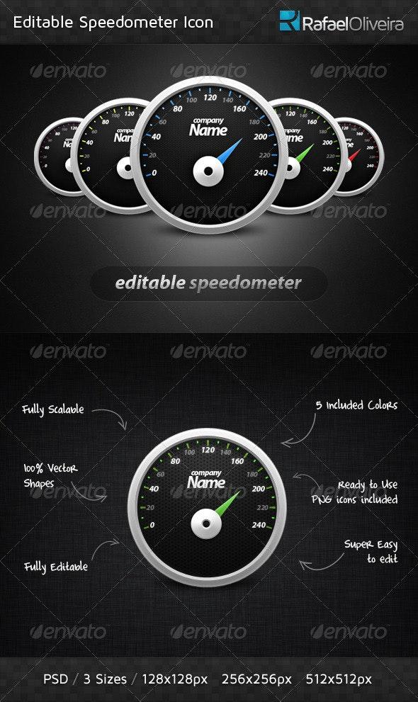 Editable Speedometer - Web Icons