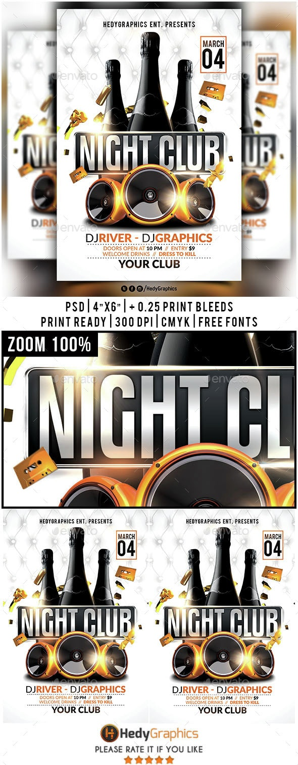 Night Club - Flyer Template - Clubs & Parties Events