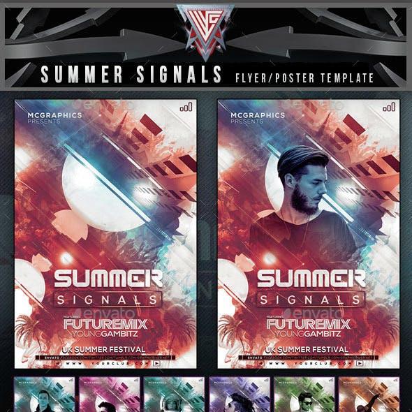 Summer Signals Flyer Template