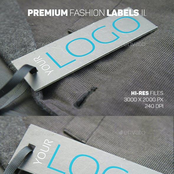 Premium Fashion Labels Mockup II