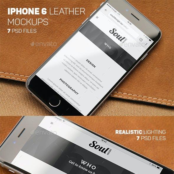 iPhone 6 Closeup Mockups Leather
