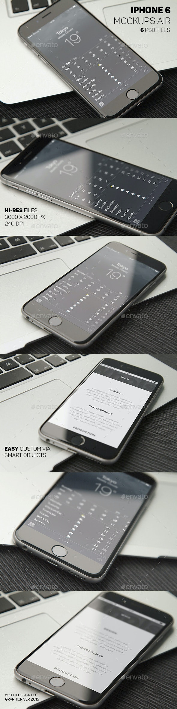 Phone 6 Closeup Mockups Air - Mobile Displays