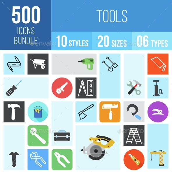 500 Tools Icons Bundle