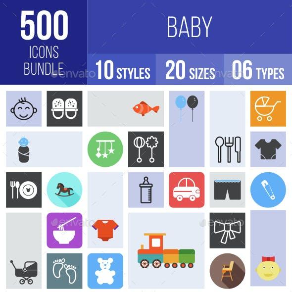 500 Baby Icons Bundle