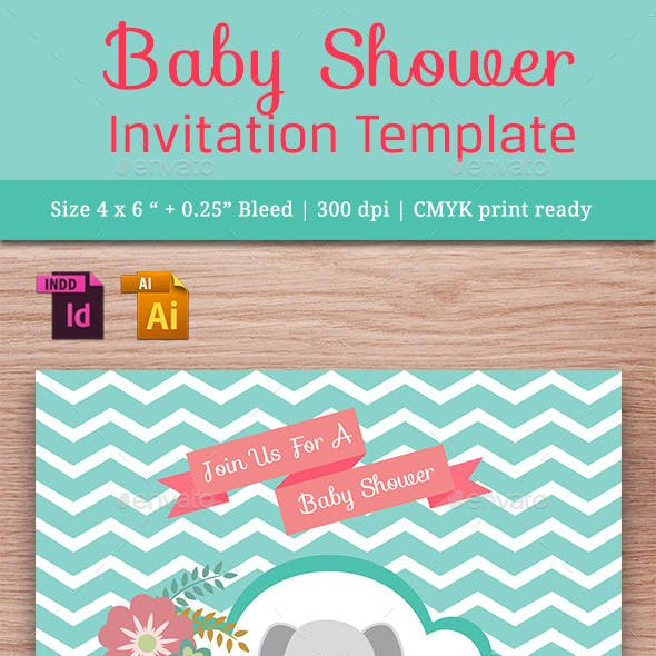 Baby Shower Template - Vol. 12