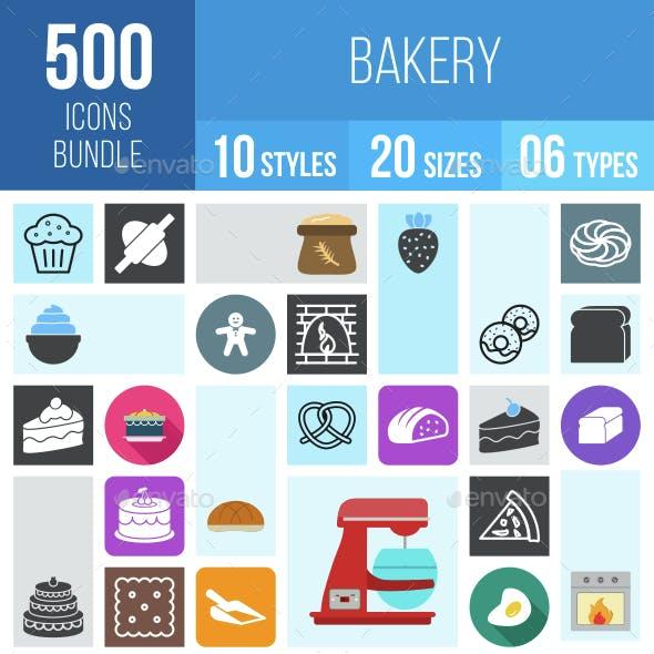 500 Bakery Icons Bundle