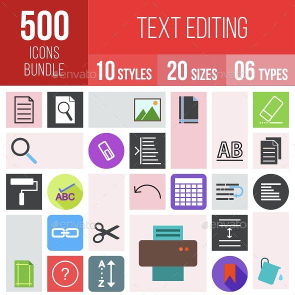 500 Text Editing Icons Bundle