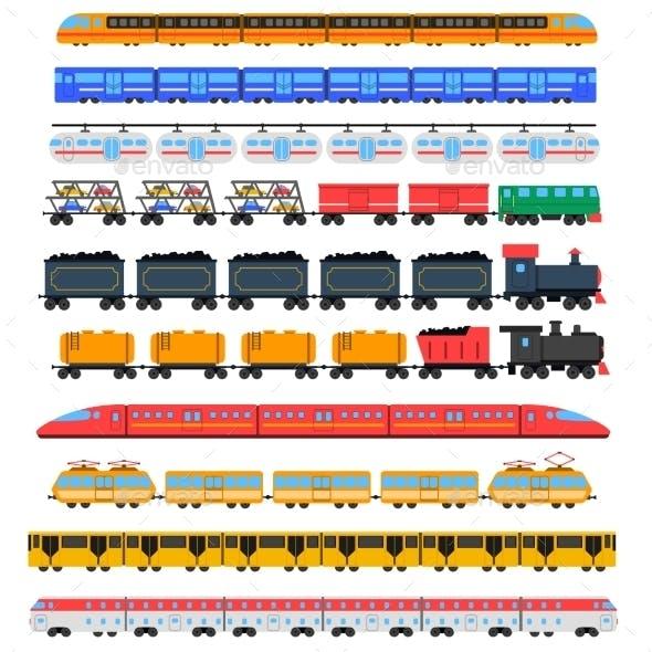 Train Icons Set