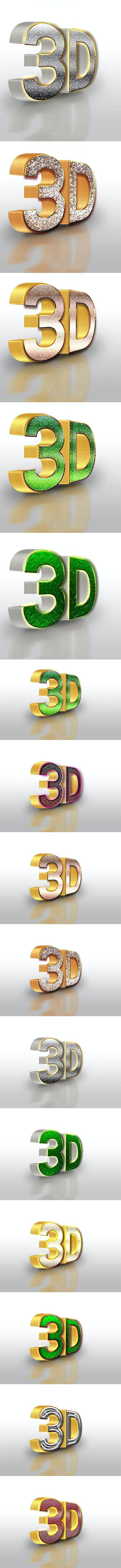 10 3D Text Style V.50ALM110216 - Styles Photoshop