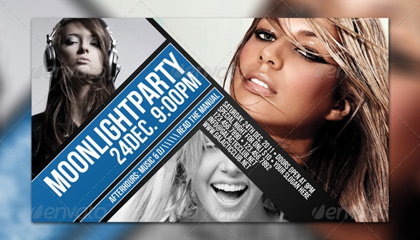 Moonlight Flyer Template - Clubs & Parties Events