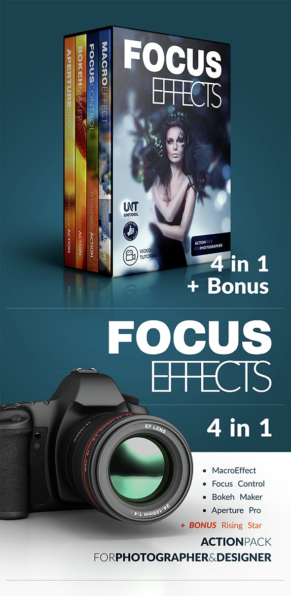 Focus Effect Action Bundle - Actions Photoshop