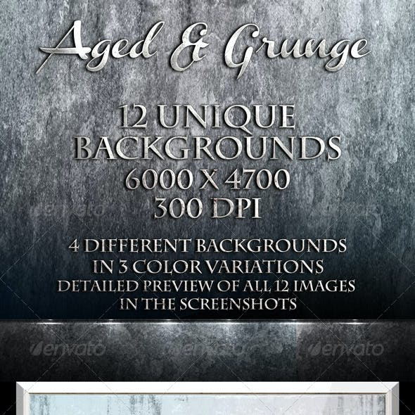 Aged & Grunge - 12 Unique Backgrounds