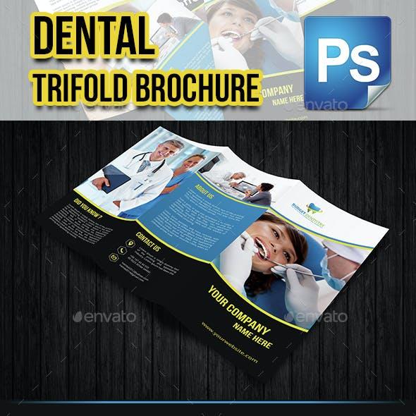 Dental Trifold Brochure Template