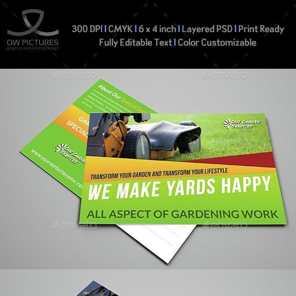Garden Services Postcard Template