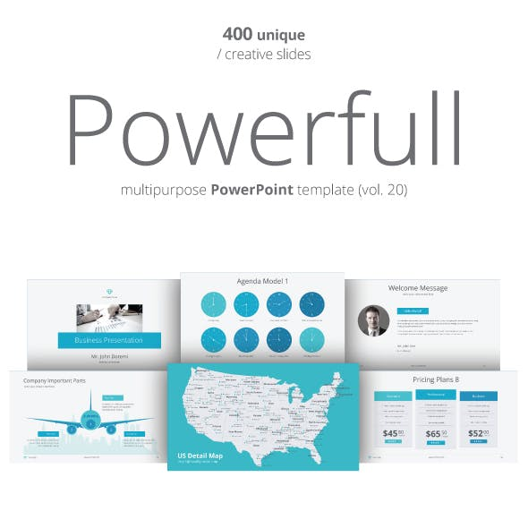 Powerfull PowerPoint Template (Vol. 20)