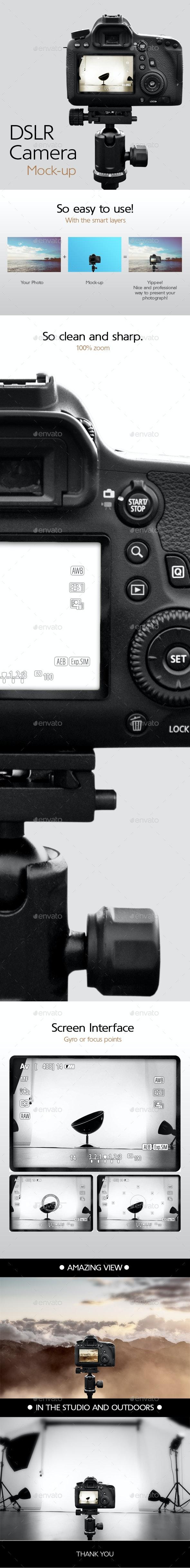 Camera on a Tripod Mock-up - Displays Product Mock-Ups