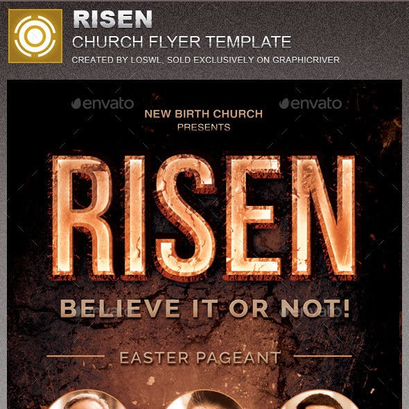 Risen Church Flyer Template