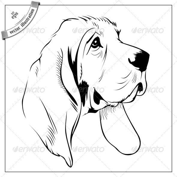 Cartoon Dog Face - Animals Characters