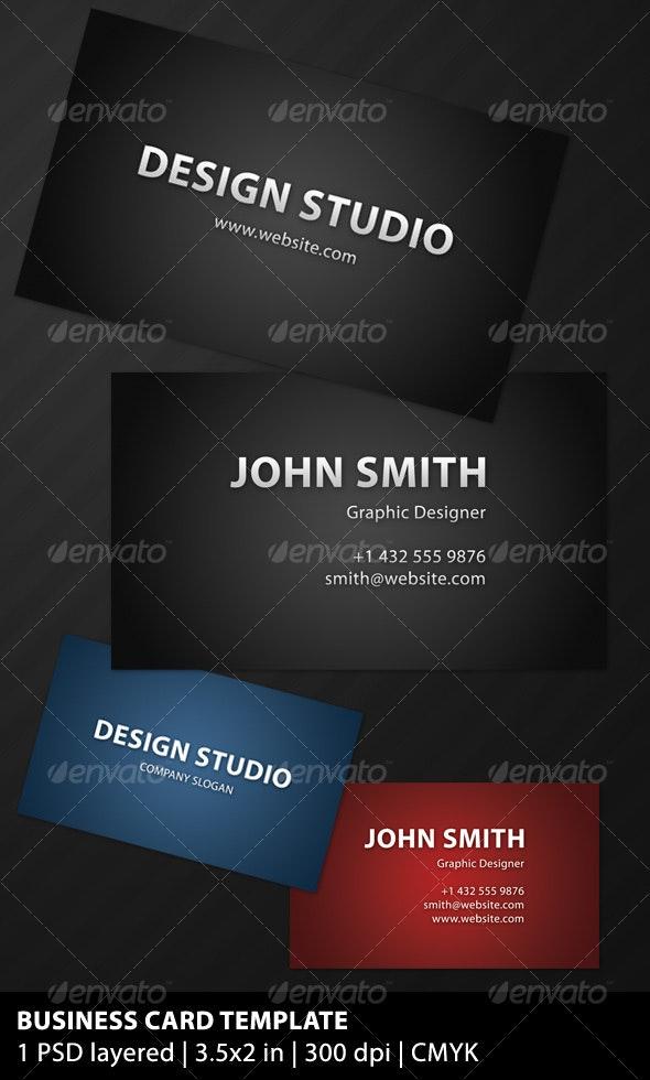 Sleek Dark Business Card - Corporate Business Cards