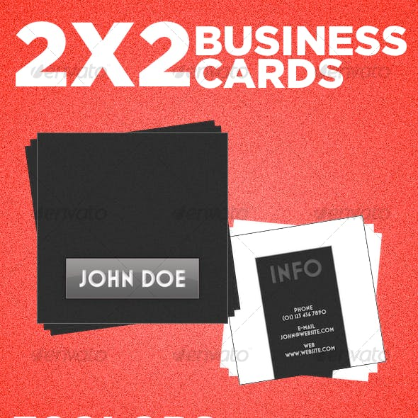 2x2 Color Boxes Business Card